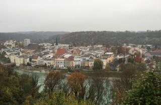 Uitzicht vanuit het hotel op Wasserburg