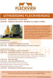 Uitnodiging Fleckviehdag